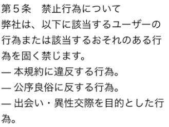 ハピネス-出会い・恋活アプリ利用規約2