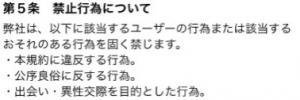 オトナ専用フレンドチャット!【無料 出会い】利用規約