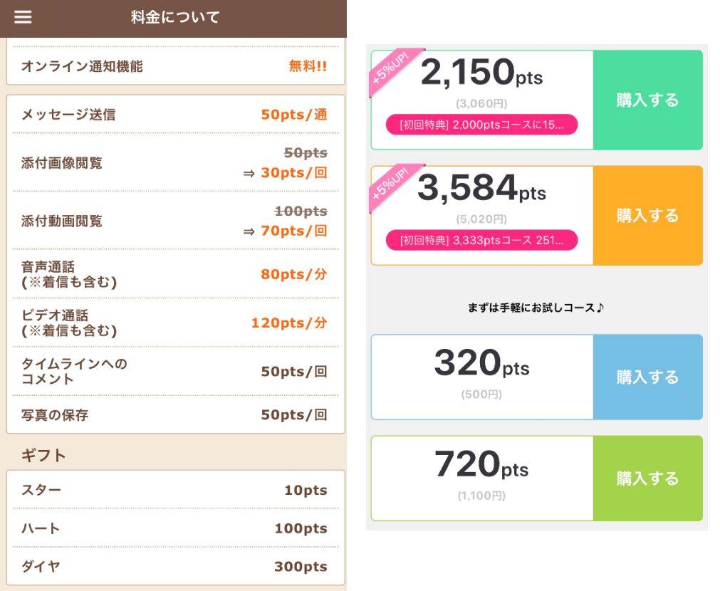 おチャベリ(人気ビデオ通話アプリでひまトークを楽しもう!)の料金体系