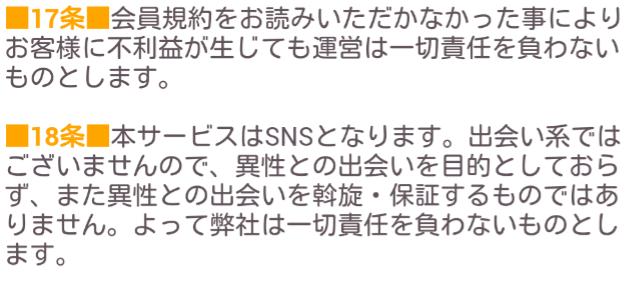 出会いチャット☆チャーム☆恋活マッチングSNSアプリ利用規約17