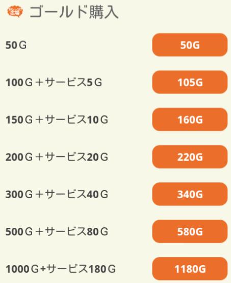 出会い系アプリおしゃべり広場の料金表4