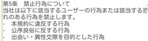 SNS友達作りアプリ - HERO(ヒーロー)利用規約第5条
