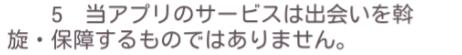 チャットタウン☆恋愛専用アプリで恋人探し利用規約