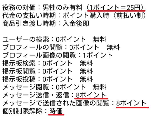 あいドル恋愛SNS・無料掲示板で即チャット(idol)料金一覧