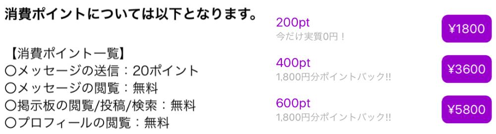 悪質出会い系アプリ「写メまっち!!」料金体系