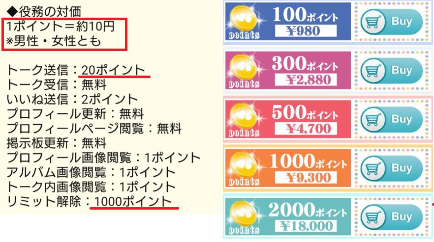 Heart Of Hearts★出会いマッチングSNS料金体系