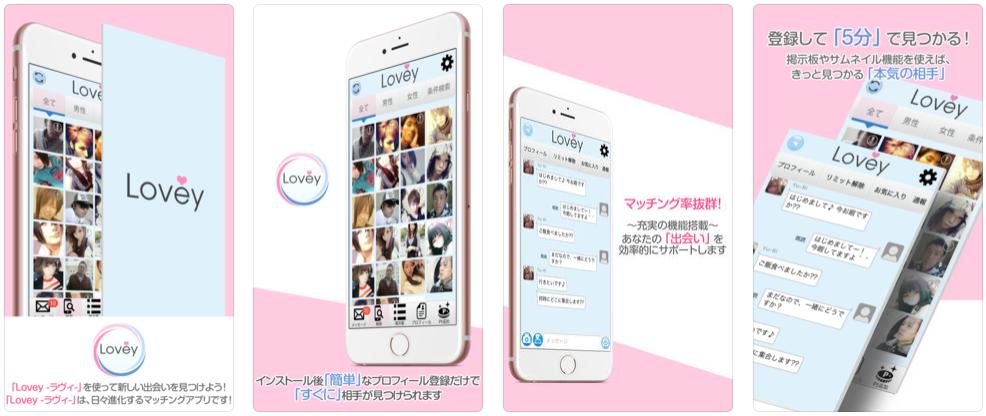 サクラ詐欺出会い系アプリ「Lovey~ラヴィ」