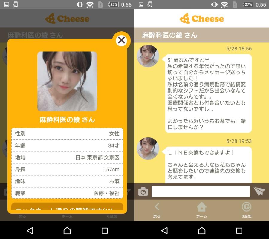 悪質出会い系アプリ「Cheese」サクラの麻酔科医の綾