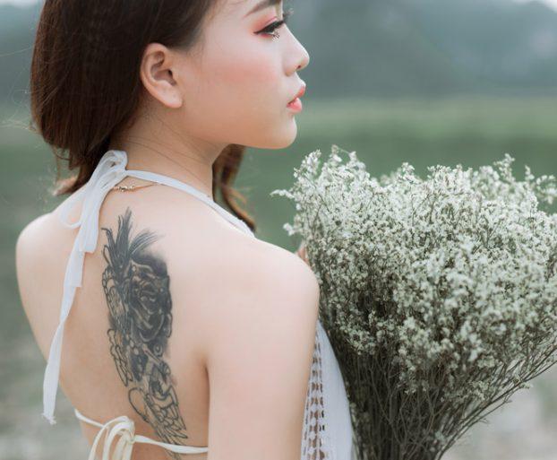 出会い系で知り合った清楚系の女性がタトゥーを入れていた