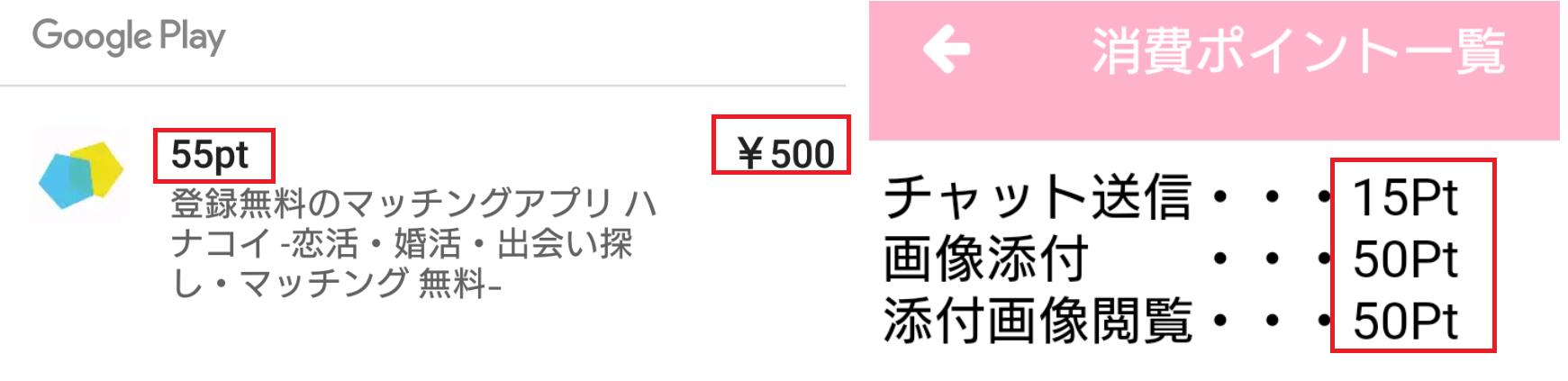 登録無料のマッチングアプリ ハナコイ -恋活・婚活・出会い探し・マッチング 無料-料金体系