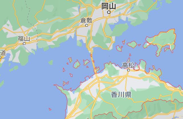 香川県から岡山県