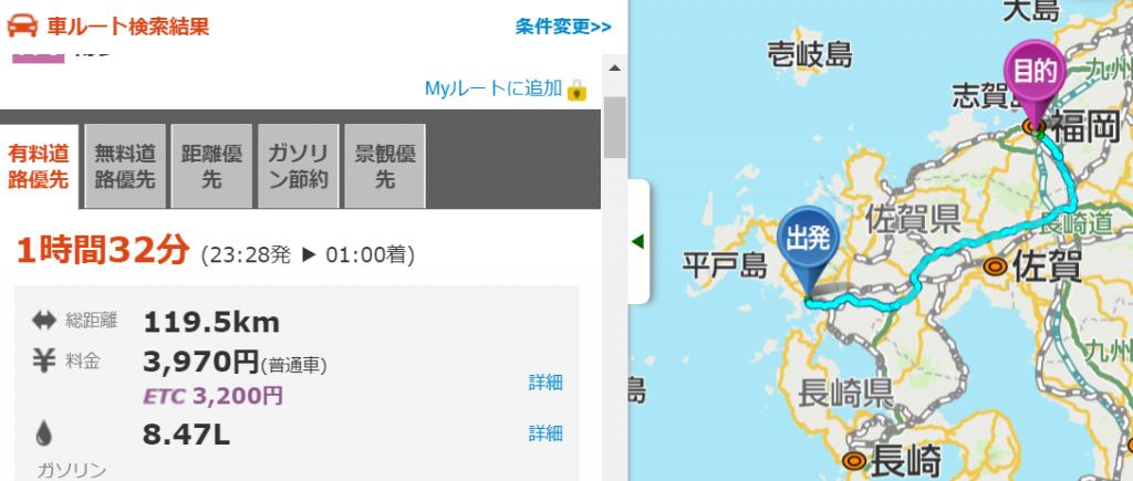 長崎から博多