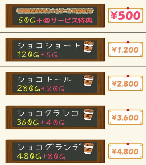 ショコラティエの料金体系