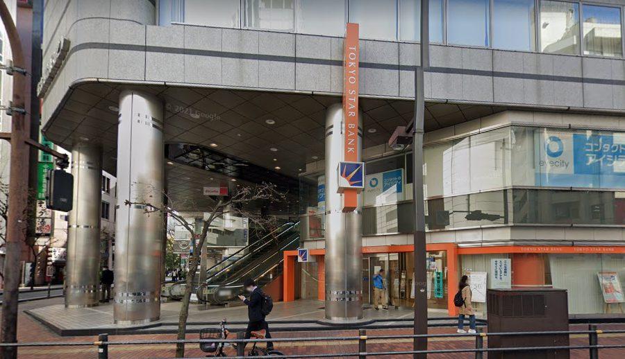 池袋の東京スター銀行前